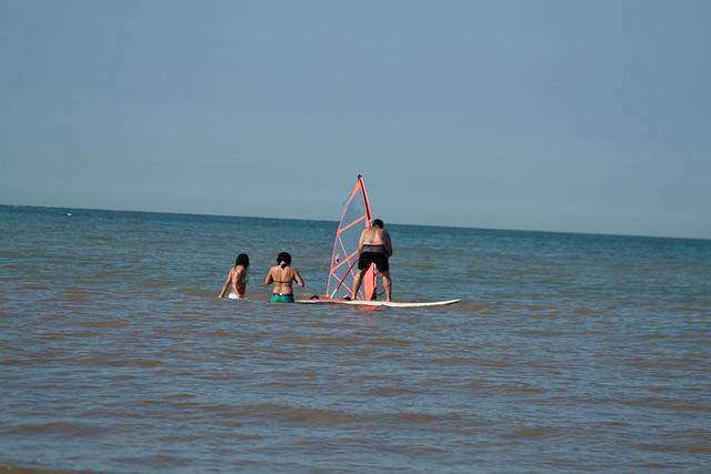 Windsurfing at Joss Bay