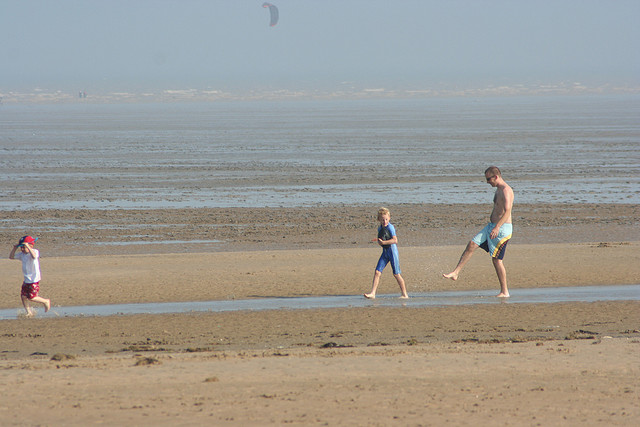 Greatstone Beach with Family