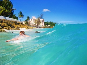 Swimming in Barbados