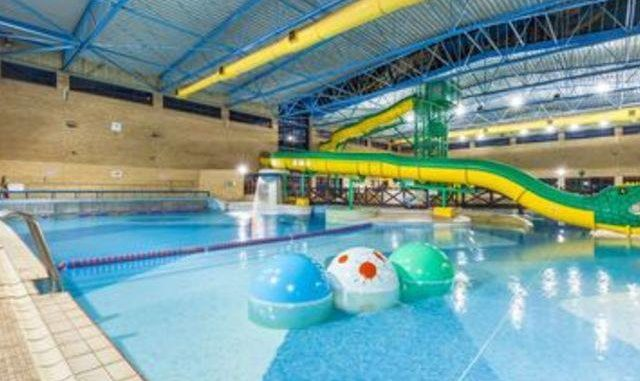 Swimming at waterfront leisure centre